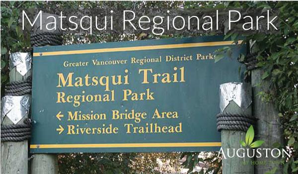 matsqui trail regional park trail head near abbotsford bc